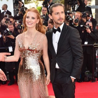Jessica Chastain, Shia LaBeouf in Lawless Premiere - During The 65th Annual Cannes Film Festival