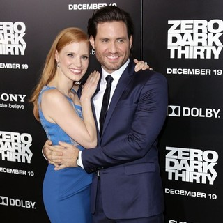 Jessica Chastain, Edgar Ramirez in Los Angeles Premiere of Columbia Pictures' Zero Dark Thirty
