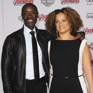 Don Cheadle, Bridgid Coulter in Los Angeles Premiere of Marvel's Avengers: Age of Ultron - Arrivals