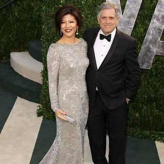 Julie Chen, Leslie Moonves in 2012 Vanity Fair Oscar Party - Arrivals