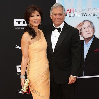 Julie Chen, Leslie Moonves in 41st AFI Life Achievement Award Honoring Mel Brooks - Red Carpet