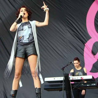 Cher Lloyd in Barclaycard Wireless Festival 2012 - Day 3