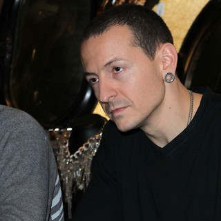 Chester Bennington, Linkin Park in Club Tattoo Inside Miracle Mile Shops Hosts An Autograph Signing with Linkin Park