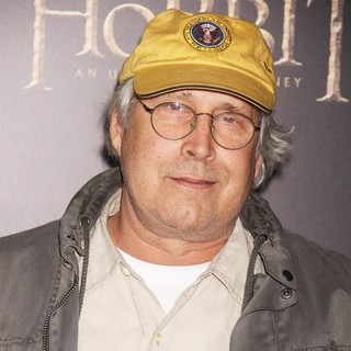 Chevy Chase in Premiere of The Hobbit: An Unexpected Journey
