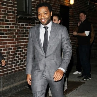 Chiwetel Ejiofor in Celebrities for The Late Show with David Letterman
