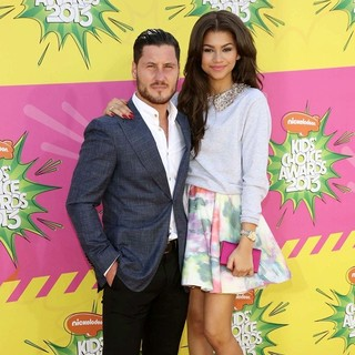 Valentin Chmerkovskiy, Zendaya Coleman in Nickelodeon's 26th Annual Kids' Choice Awards - Arrivals