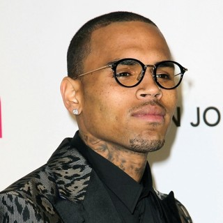 Chris Brown in 21st Annual Elton John AIDS Foundation's Oscar Viewing Party