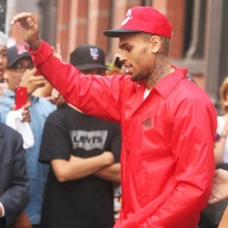 Chris Brown in Chris Brown Exits The Bape Store