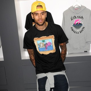 Chris Brown in The Launch of The Black Pyramid and Pink+Dolphin Collection