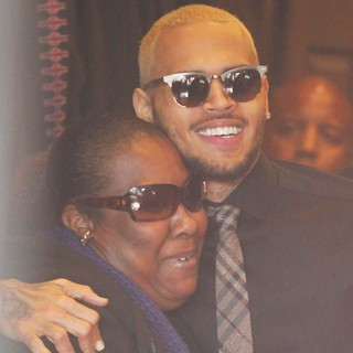 Chris Brown in Chris Brown Attends A Meet and Greet with Fans