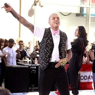 Chris Brown in Chris Brown Performing Live as Part of The Today Show's Summer Concert Series