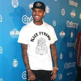 Chris Brown in Qubeeys Chris Brown Channel Launch - Arrivals