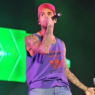 Chris Brown in Chris Brown Performing Live on Stage During Supafest 2012