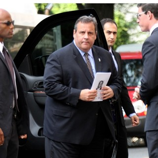 Chris Christie in The Funeral Service for Actor James Gandolfini