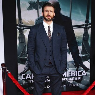 Chris Evans in Captain America: The Winter Soldier Los Angeles Premiere