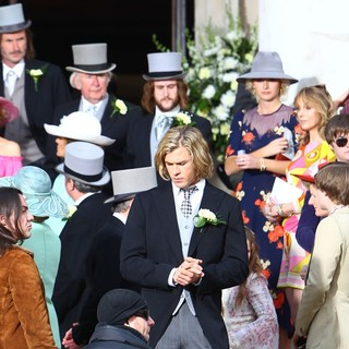 Chris Hemsworth in Filming Takes Place for Rush