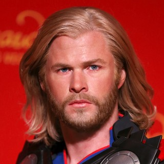 Chris Hemsworth in Madame Tussauds Las Vegas Unveils Wax Figure of Marvel's Super Hero Thor