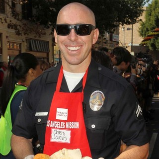 Chris Jarvis in The Los Angeles Mission's Thanksgiving for Skid Row Homeless
