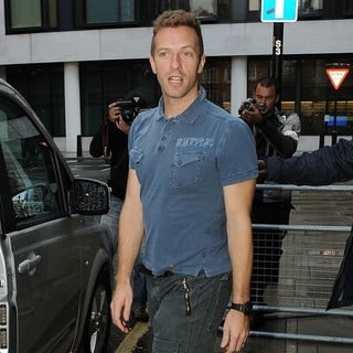 Chris Martin, Coldplay in Chris Martin Outside The BBC Radio 2 Studios