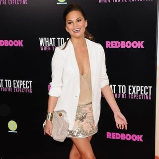 Chrissy Teigen in What to Expect When You're Expecting New York Premiere