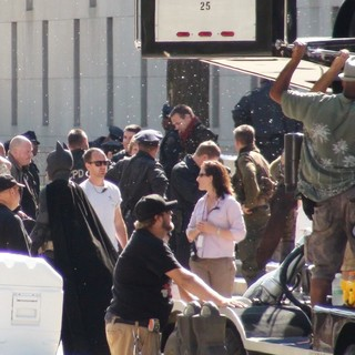 Christian Bale in The Dark Knight Rises Filming