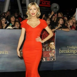 Christian Serratos in The Premiere of The Twilight Saga's Breaking Dawn Part II