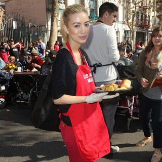 Christian Serratos in The Los Angeles Mission's Thanksgiving for Skid Row Homeless