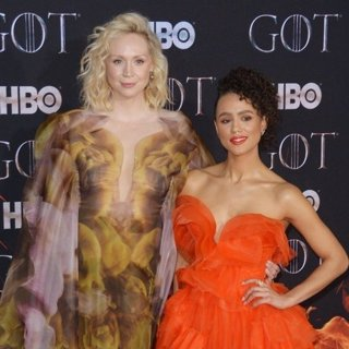 Gwendoline Christie, Nathalie Emmanuel in Game of Thrones Season 8 Premiere - Red Carpet Arrivals