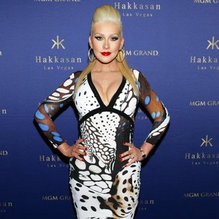 Christina Aguilera Hosts The 2nd Year Anniversary of Hakkasan Nightclub