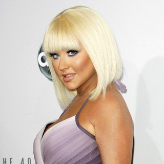 Christina Aguilera in The 40th Anniversary American Music Awards - Arrivals