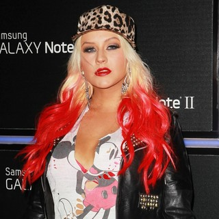 Christina Aguilera in Samsung Mobile Launch Party for The New Samsung Galaxy Note II - Arrivals