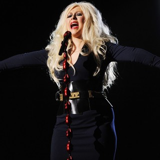 Christina Aguilera in Michael Jackson Tribute Concert Held at The Cardiff Millenium Stadium