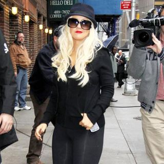 Christina Aguilera in The Late Show with David Letterman - Arrivals