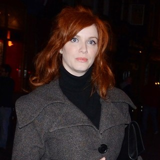 Christina Hendricks in London Fashion Week - Autumn-Winter 2012 - Vivienne Westwood - After Party