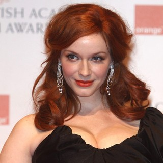 Christina Hendricks in Orange British Academy Film Awards 2012 - Press Room