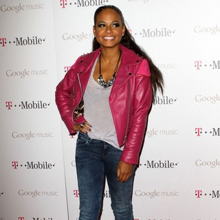 Christina Milian in Celebrity Magenta Carpet Arrivals at The Launch Party for Google Music Available on T-Mobile