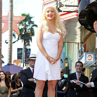 Christina Aguilera in Christina Aguilera Receives A Star on The Hollywood Walk of Fame