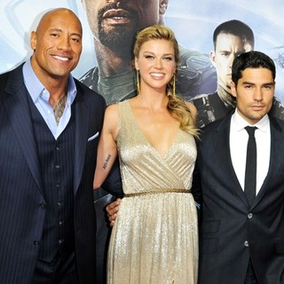 Jon M. Chu, The Rock, Adrianne Palicki, D.J. Cotrona, Lee Byung-hun in G.I. Joe: Retaliation - Sydney Premiere
