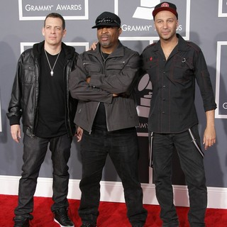 Chuck D, Tom Morello, Z-Trip in 55th Annual GRAMMY Awards - Arrivals
