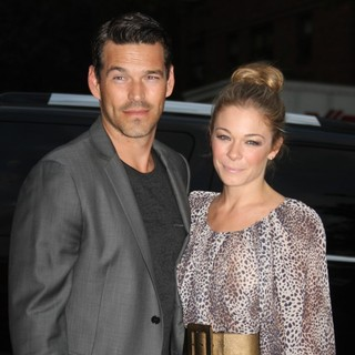 Eddie Cibrian, LeAnn Rimes in Mercedes Benz New York Fashion Week - Day 3