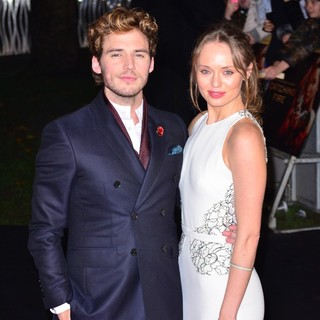 Sam Claflin, Laura Haddock in The World Premiere of The Hunger Games: Catching Fire - Arrivals
