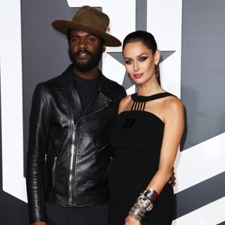 Gary Clark Jr., Nicole Trunfio in Justice League Film Premiere