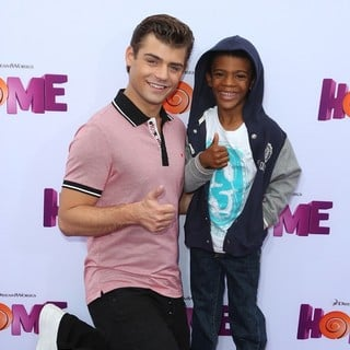 Garrett Clayton, Tyson Hansen in Los Angeles Premiere of Home Presented by 20th Century Fox and DreamWorks Animation