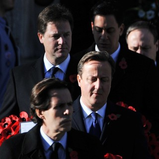 Nick Clegg, David Cameron, Ed Miliband in Sunday Commemorating Sacrifices of The Armed Forces
