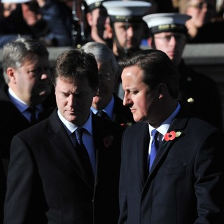 Nick Clegg, David Cameron in Sunday Commemorating Sacrifices of The Armed Forces