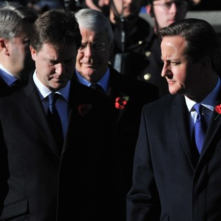 Nick Clegg, John Major, David Cameron in Sunday Commemorating Sacrifices of The Armed Forces