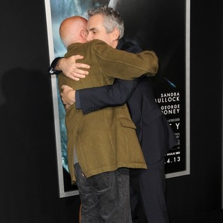 Francesco Clemente, Alfonso Cuaron in New York Premiere of Gravity - Arrivals