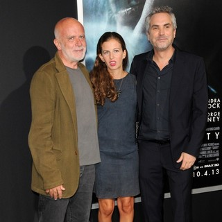 Francesco Clemente, Chiara Clemente, Alfonso Cuaron in New York Premiere of Gravity - Arrivals