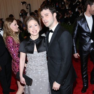 Chelsea Clinton, Marc Mezvinsky in PUNK: Chaos to Couture Costume Institute Gala