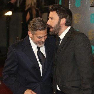 George Clooney, Ben Affleck in The 2013 EE British Academy Film Awards - Arrivals